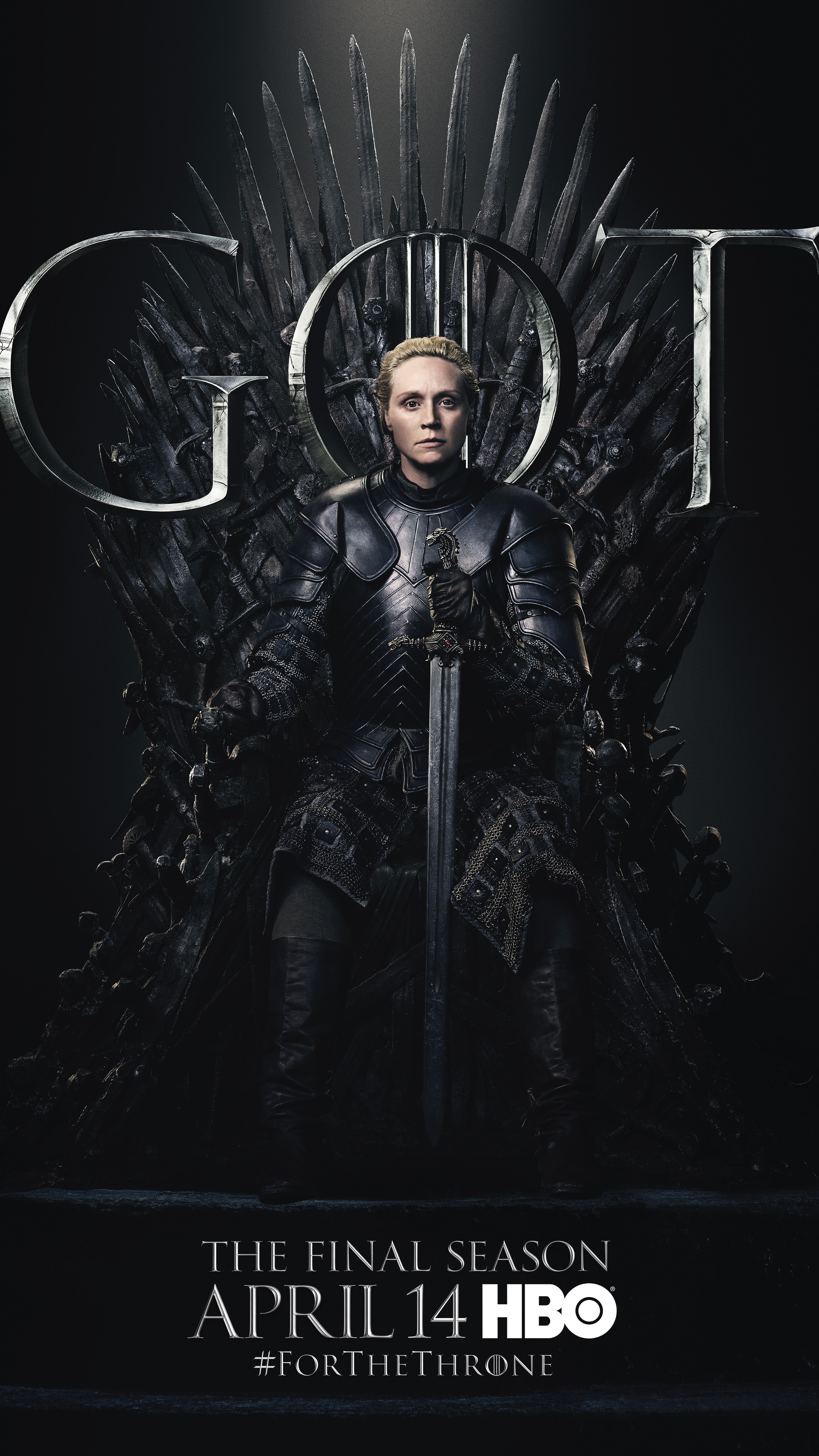 9. Brienne of Tarth GOT Season 8 For The Throne Character Poster-min