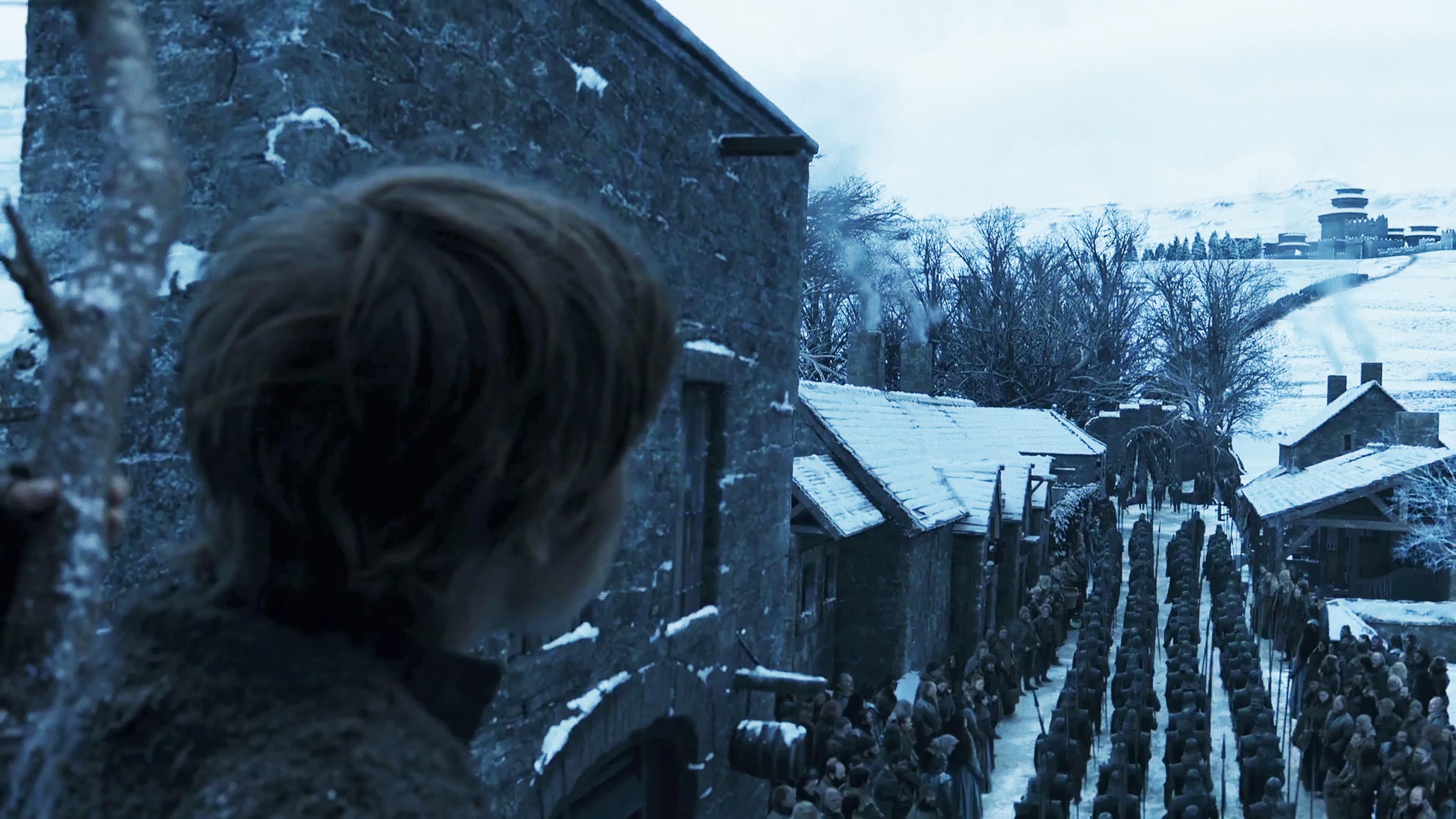 12. Season 8 Trailer Winterfell Arrival Winter Town Unsullied