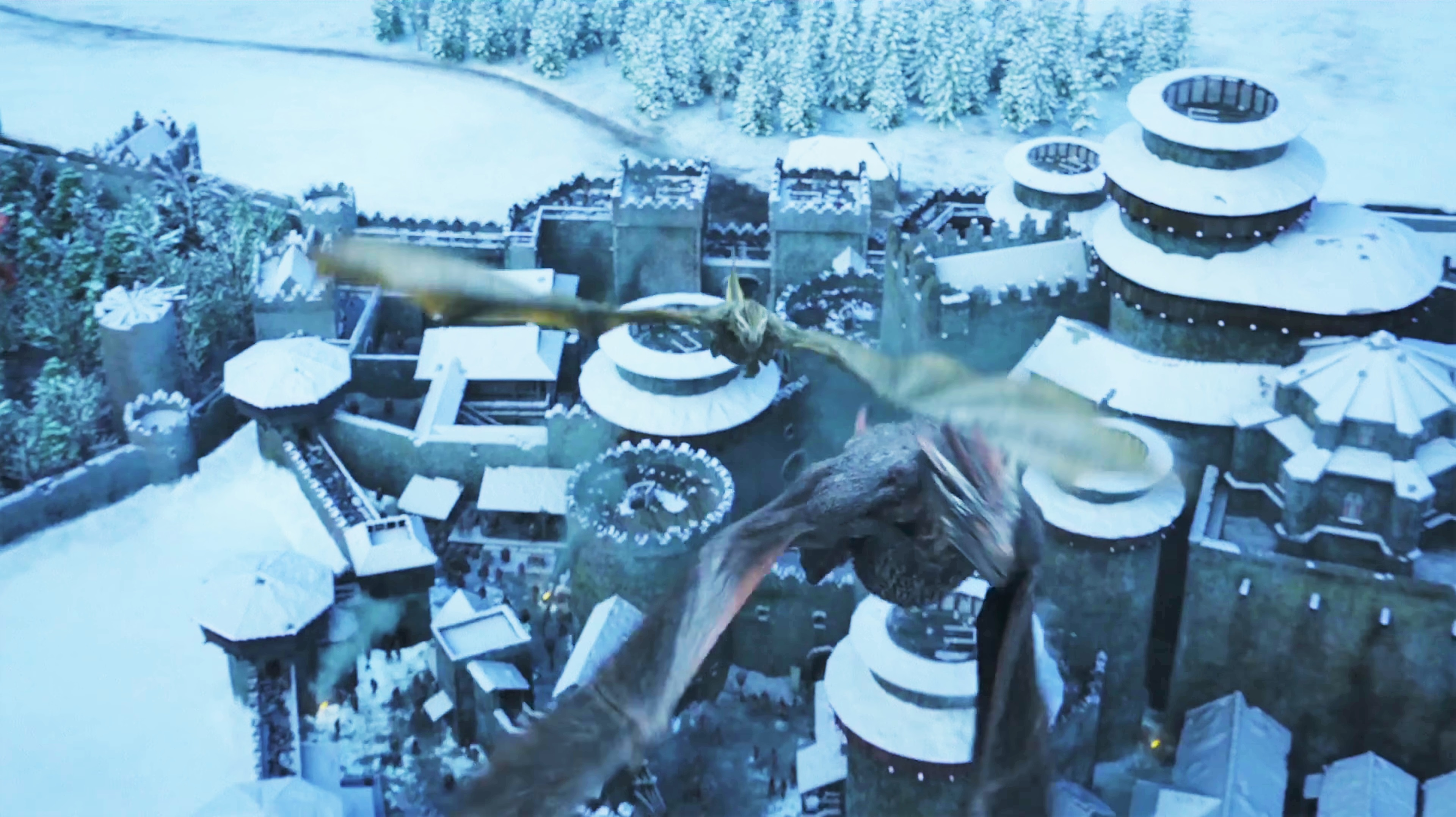 15. Season 8 Trailer Winterfell Overview Drogon Viserion