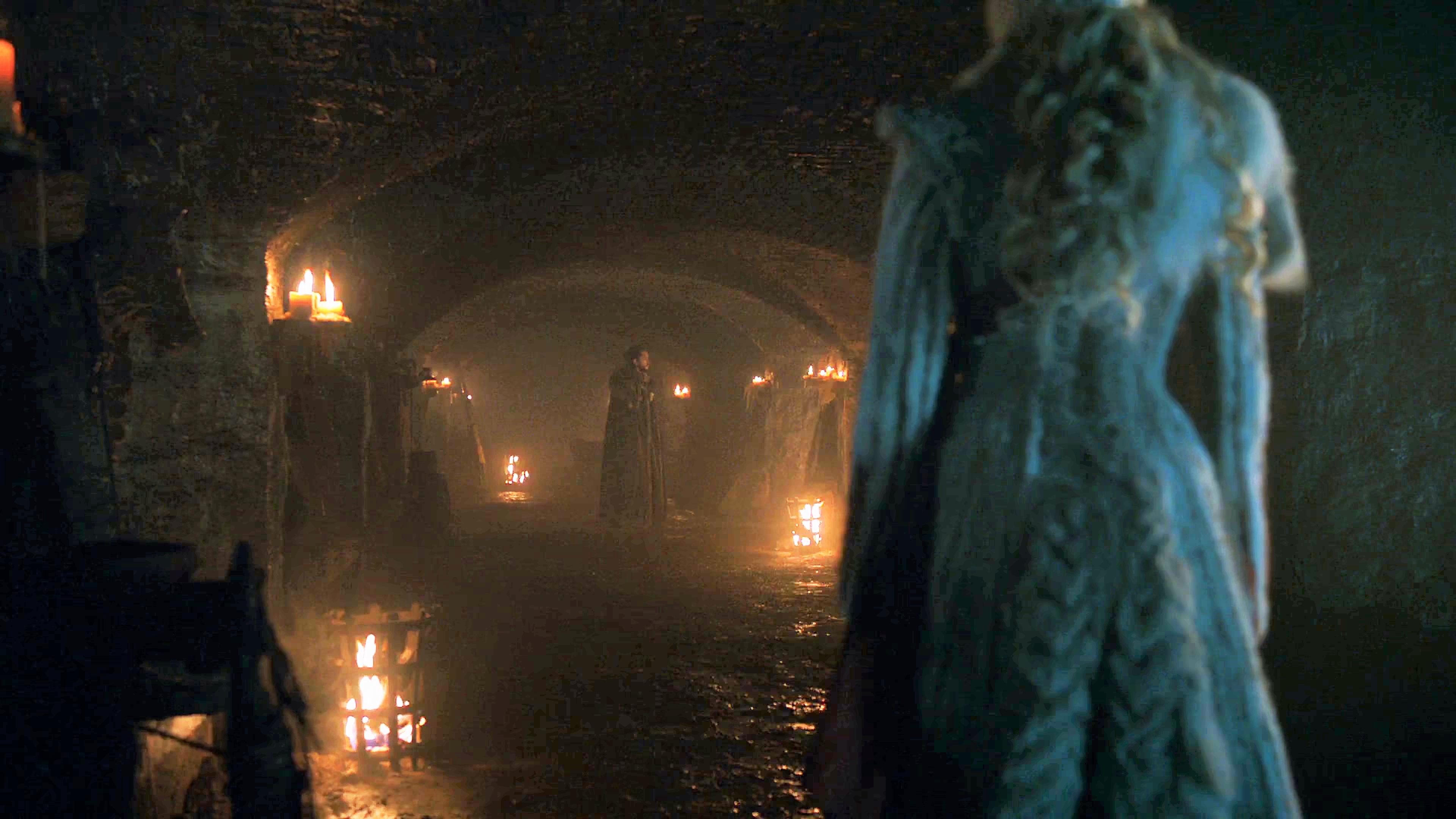 16. Season 8 Trailer Crypts Winterfell Daenerys Targaryen Jon Snow 1