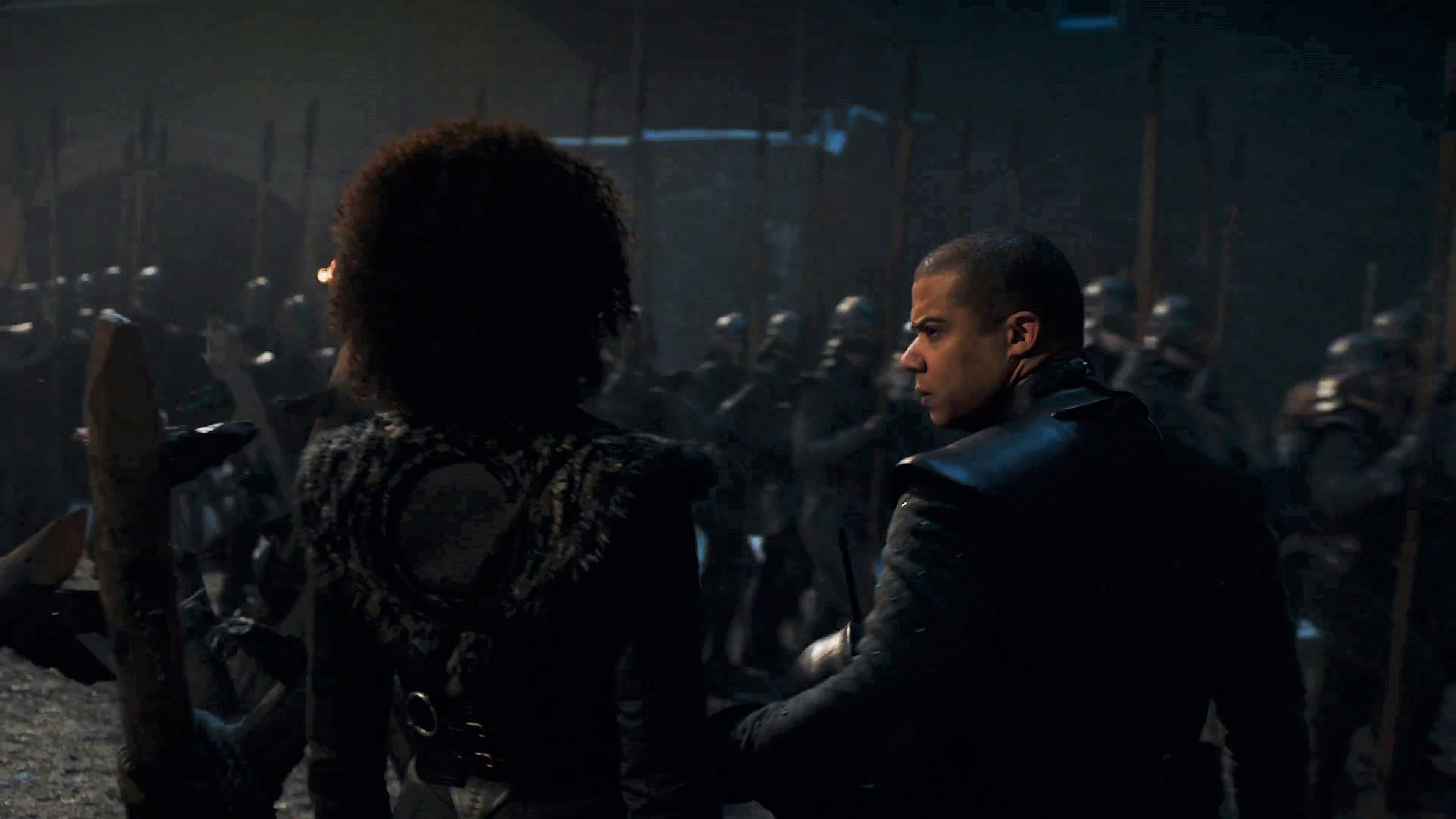 21. Season 8 Trailer Winterfell Battle Missandei Grey Worm Unsullied
