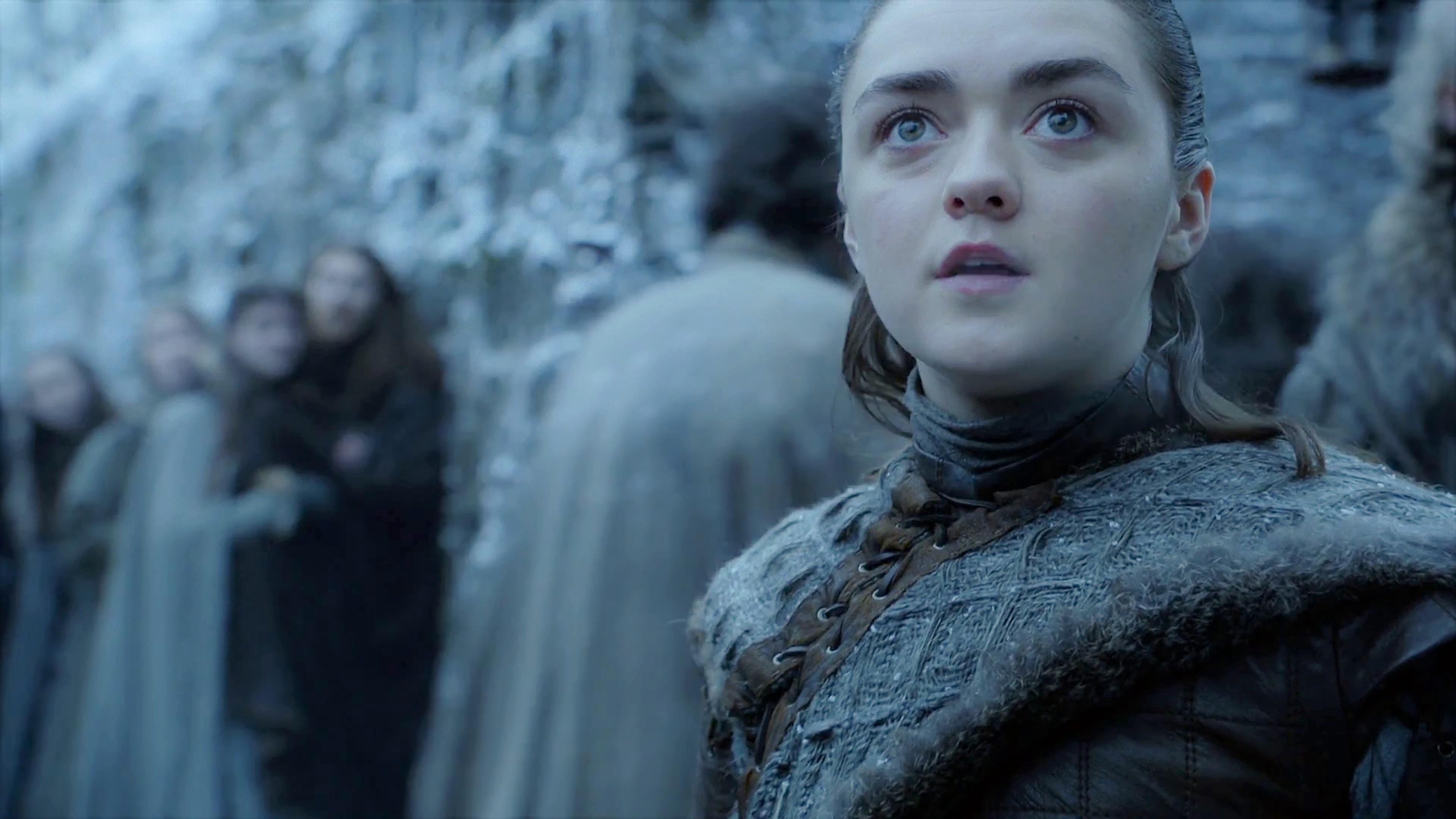 29. Season 8 Trailer Arya Stark Winter Town Winterfell Arrival Dragons