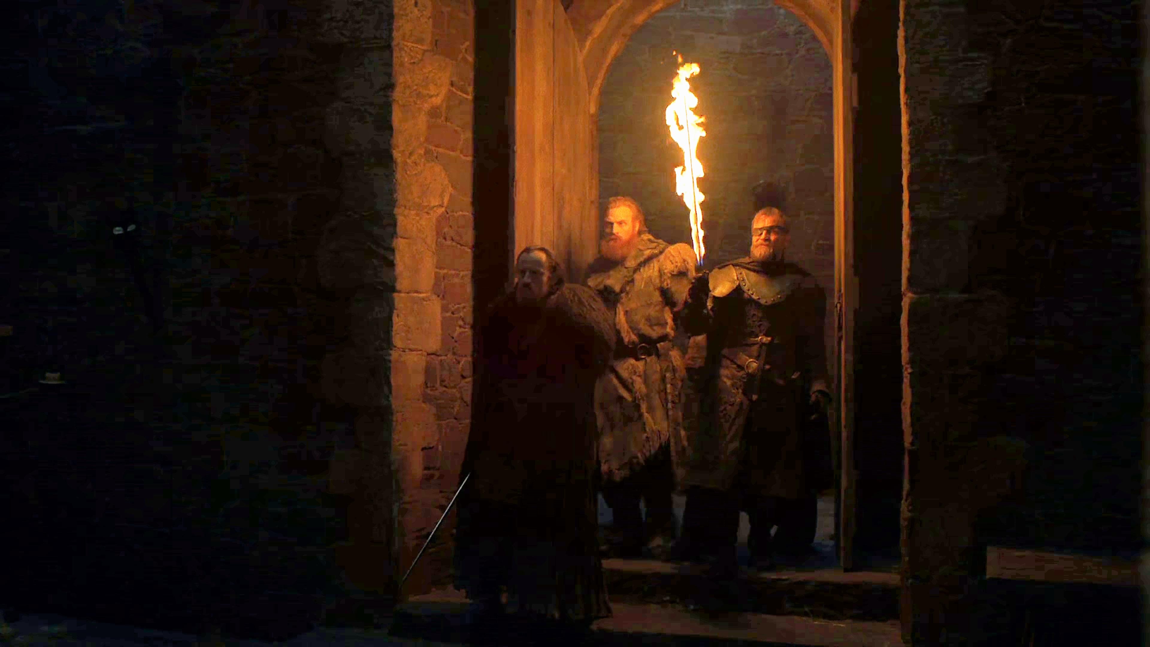 Tormund (Kristofer Hivju), Beric (Richard Dormer) and Edd (Ben Crompton)  in the season eight trailer