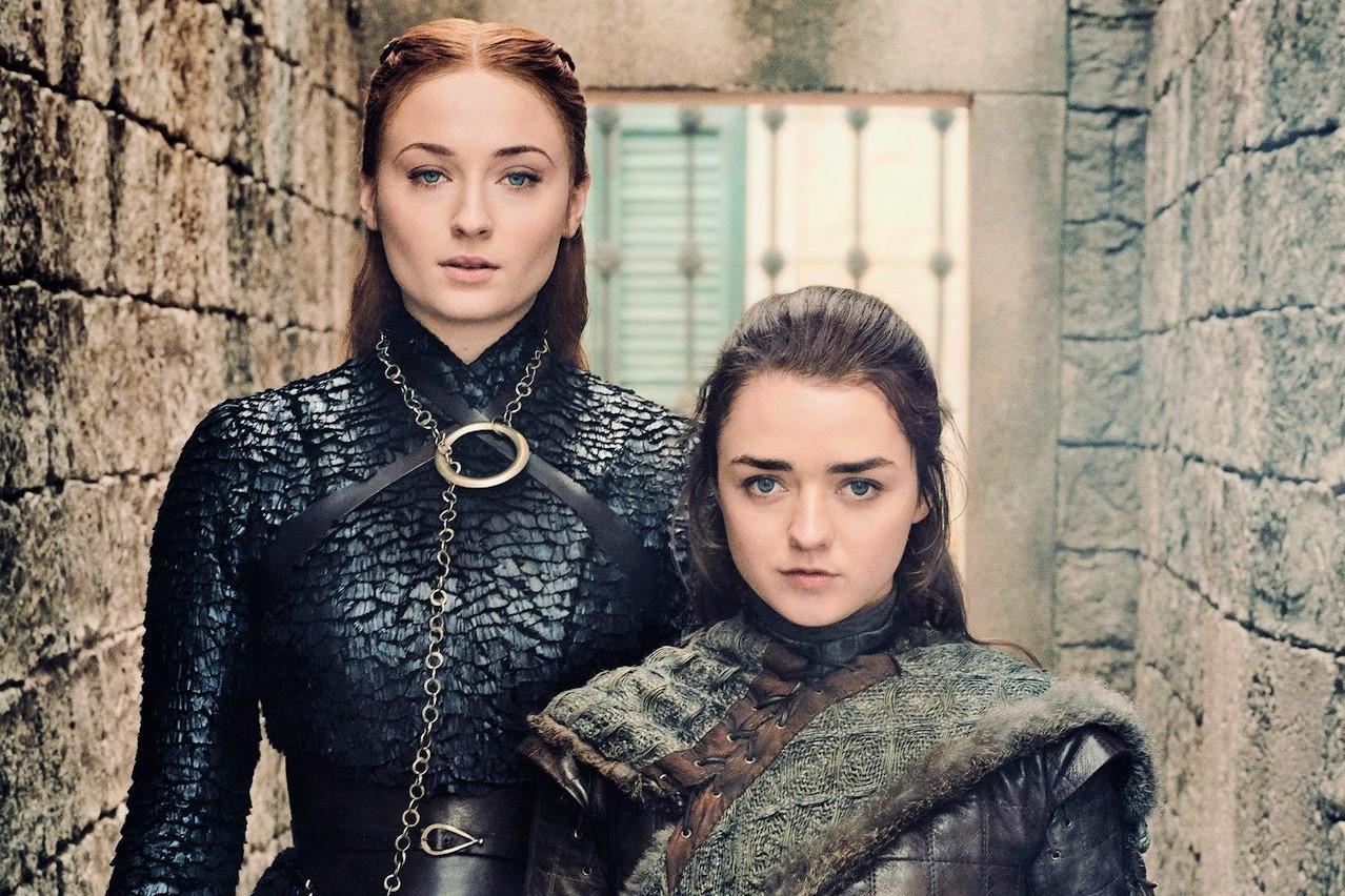 Maisie Williams Sophie Turner Arya Sansa Season 8 EW
