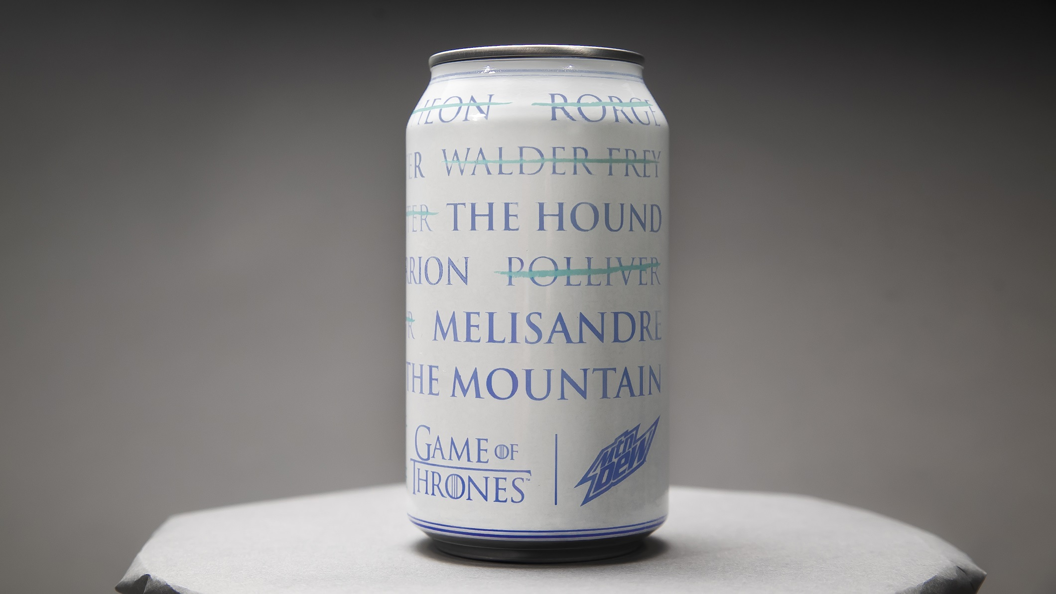 Mountain Dew For The Throne Can Season 8 Arya List