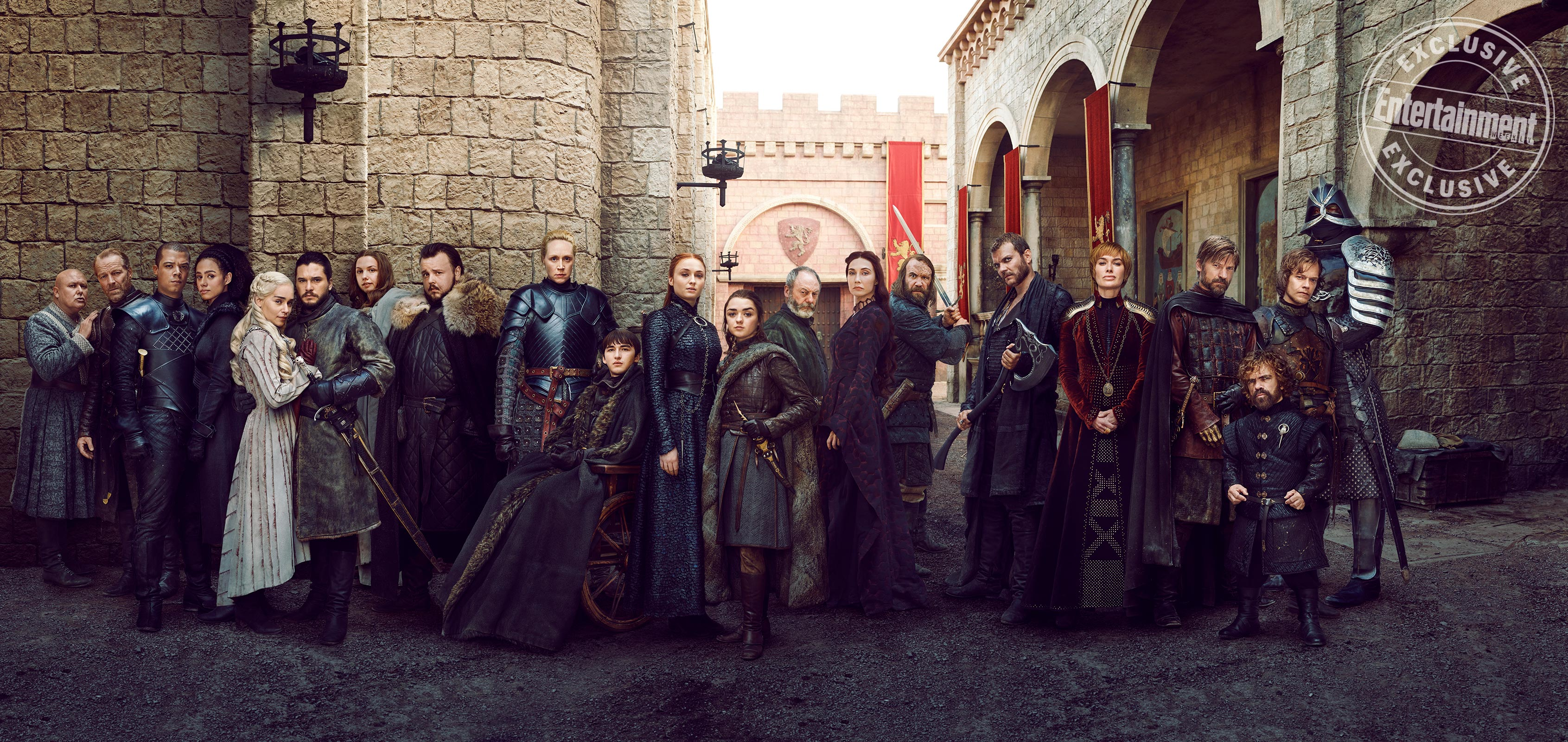 The main cast of Season 8 at the King's Landing set
