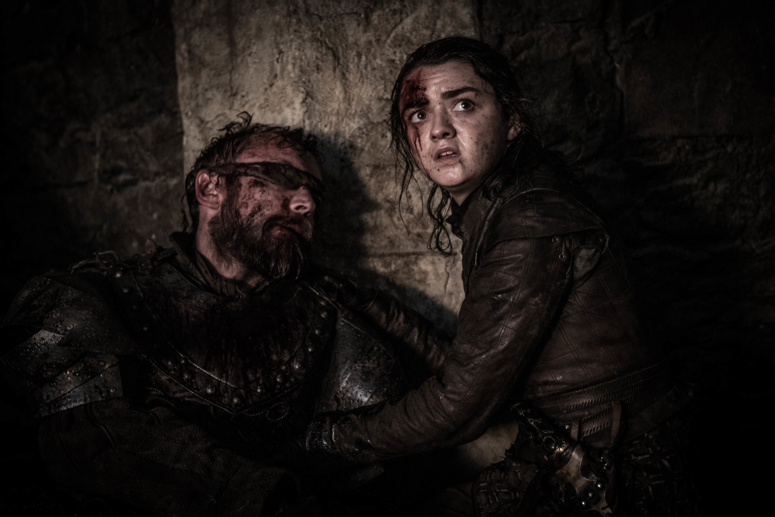Beric Dondarrion Arya Stark Season 8 803 The Long Night