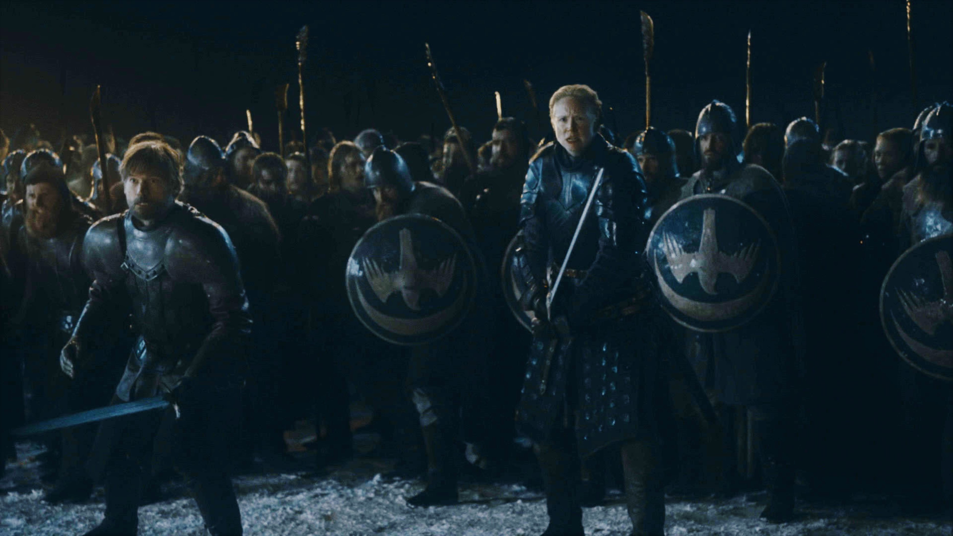 Jaime Lannister Ser Brienne of Tarth Battle of Winterfell Brightened Season 8 803