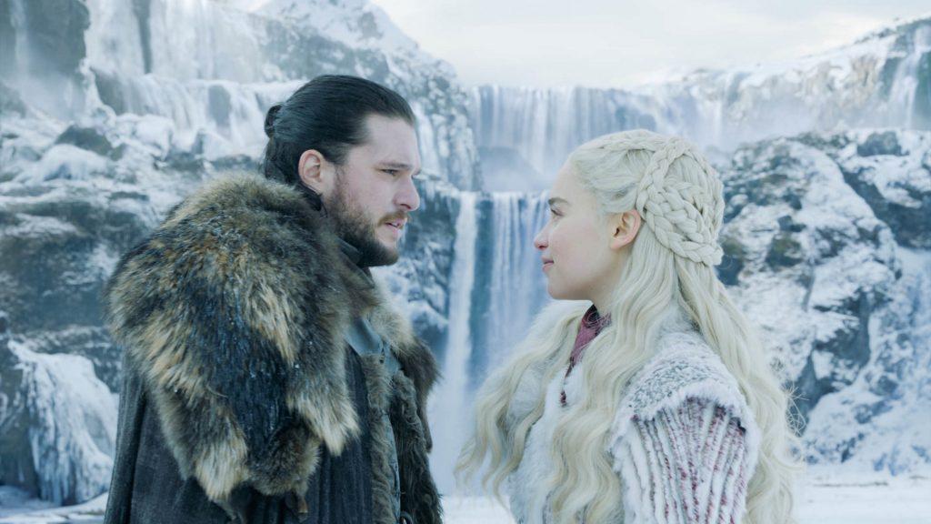 Jon Daenerys waterfall Winterfell episode
