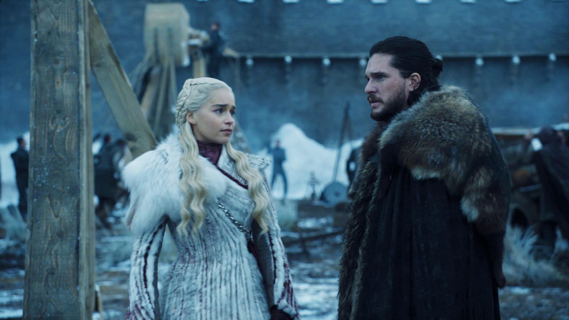 Jon Snow Daenerys Targaryen Season 8 801 Winterfell