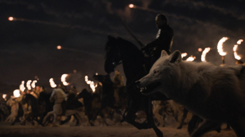 Jorah Ghost Dothraki Fiery Arakhs Season 8 803 The Long Night