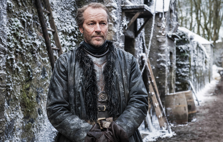 Jorah Mormont (Iain Glen) in Winter Town, near Winterfell. Photo: HBO