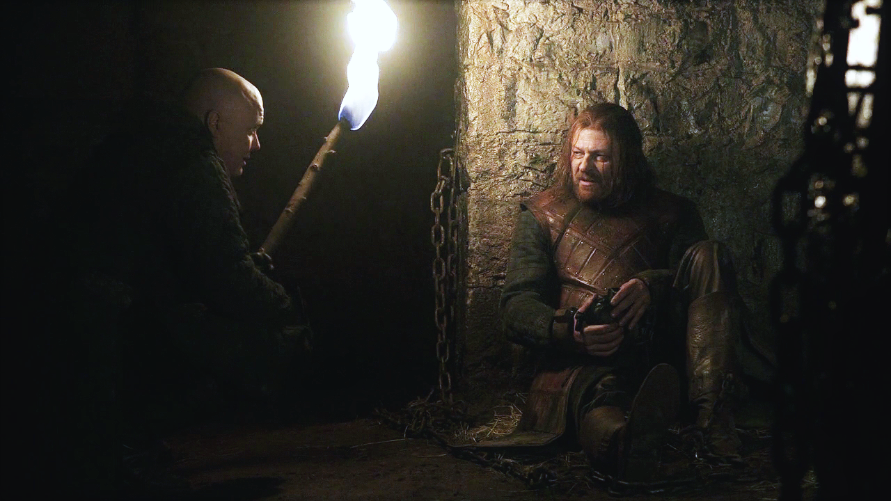 Image result for varys in the dungeon with ned