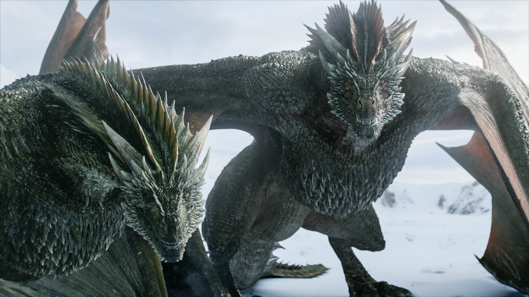 Rhaegal Drogon Winterfell