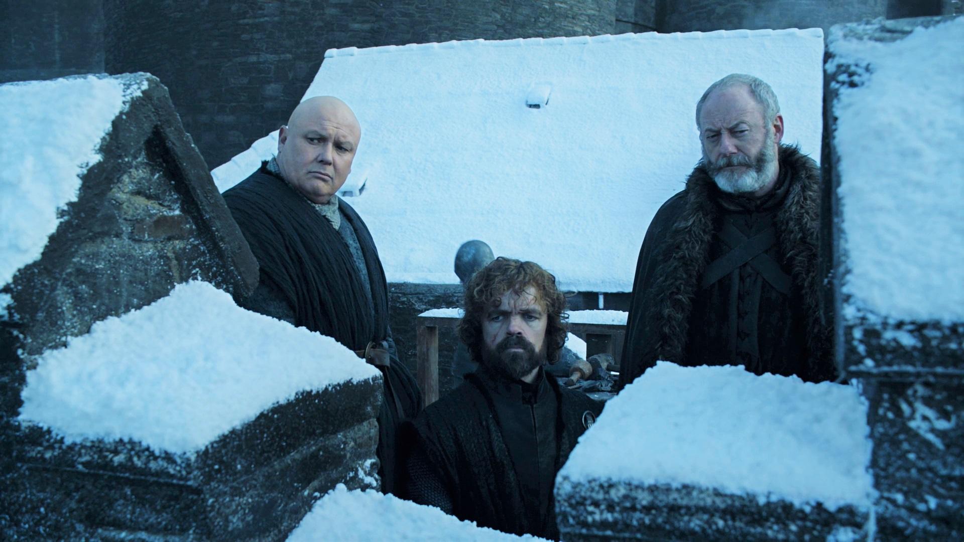 Varys Tyrion Lannister Davos Seaworth Season 8 801