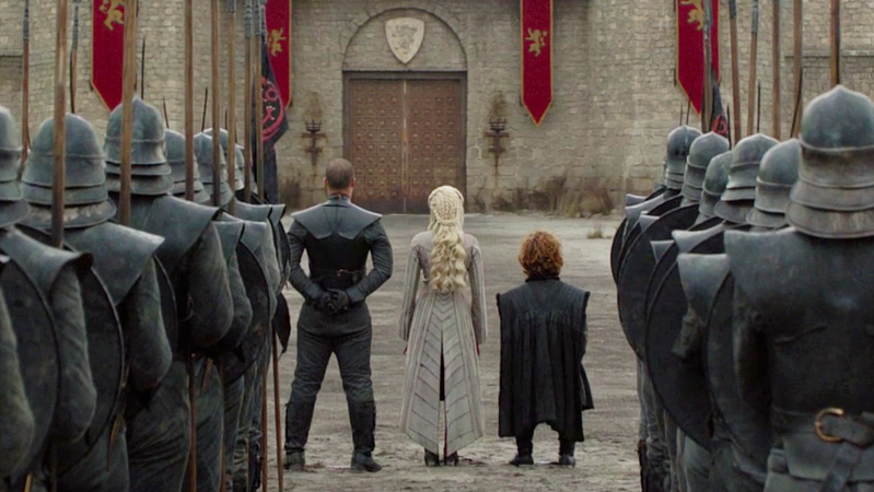 Daenerys Targaryen Dress Back Grey Worm Tyrion Lannister King's Landing Season 8 804