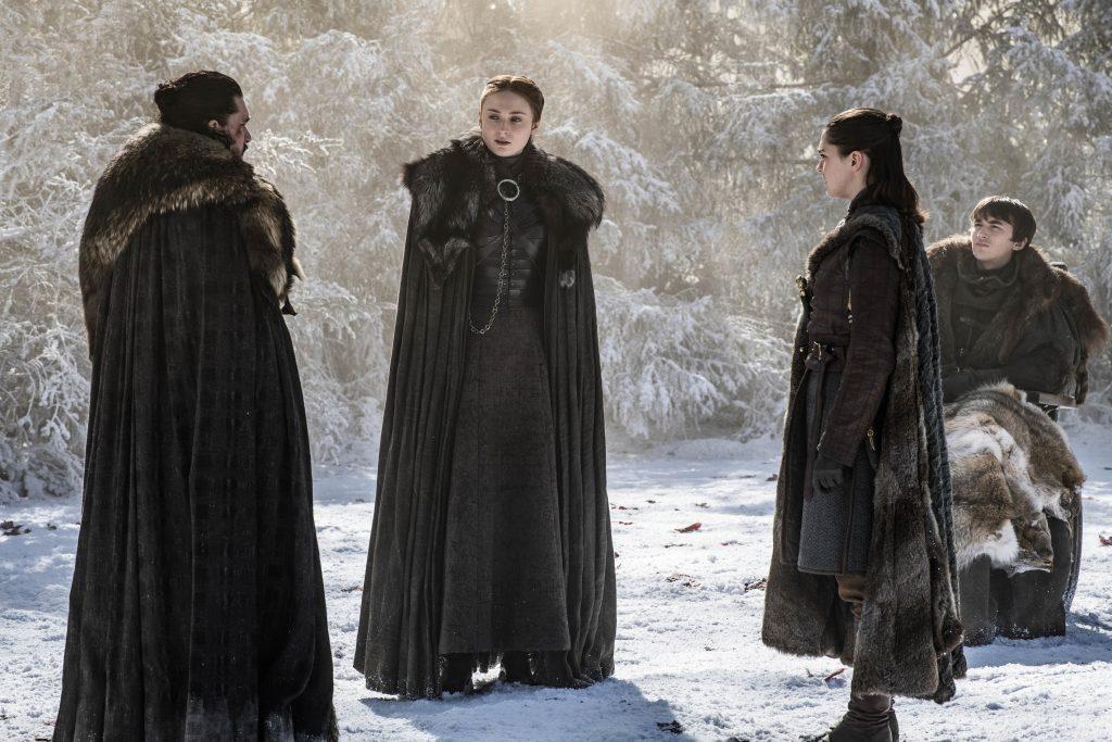 Jon Snow Sansa Stark Arya Bran Season 8 804