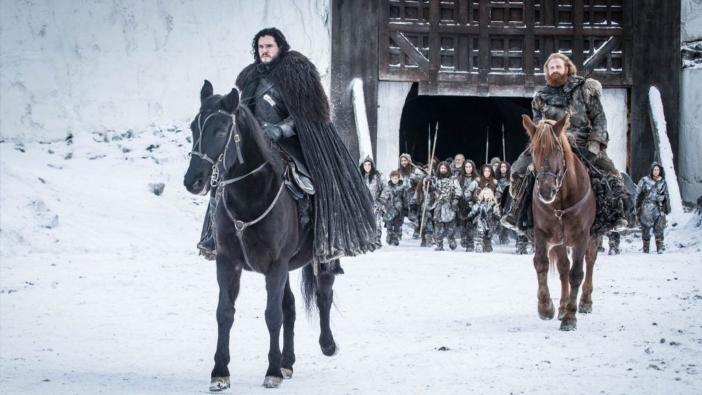 Jon and Tormund The Iron Throne