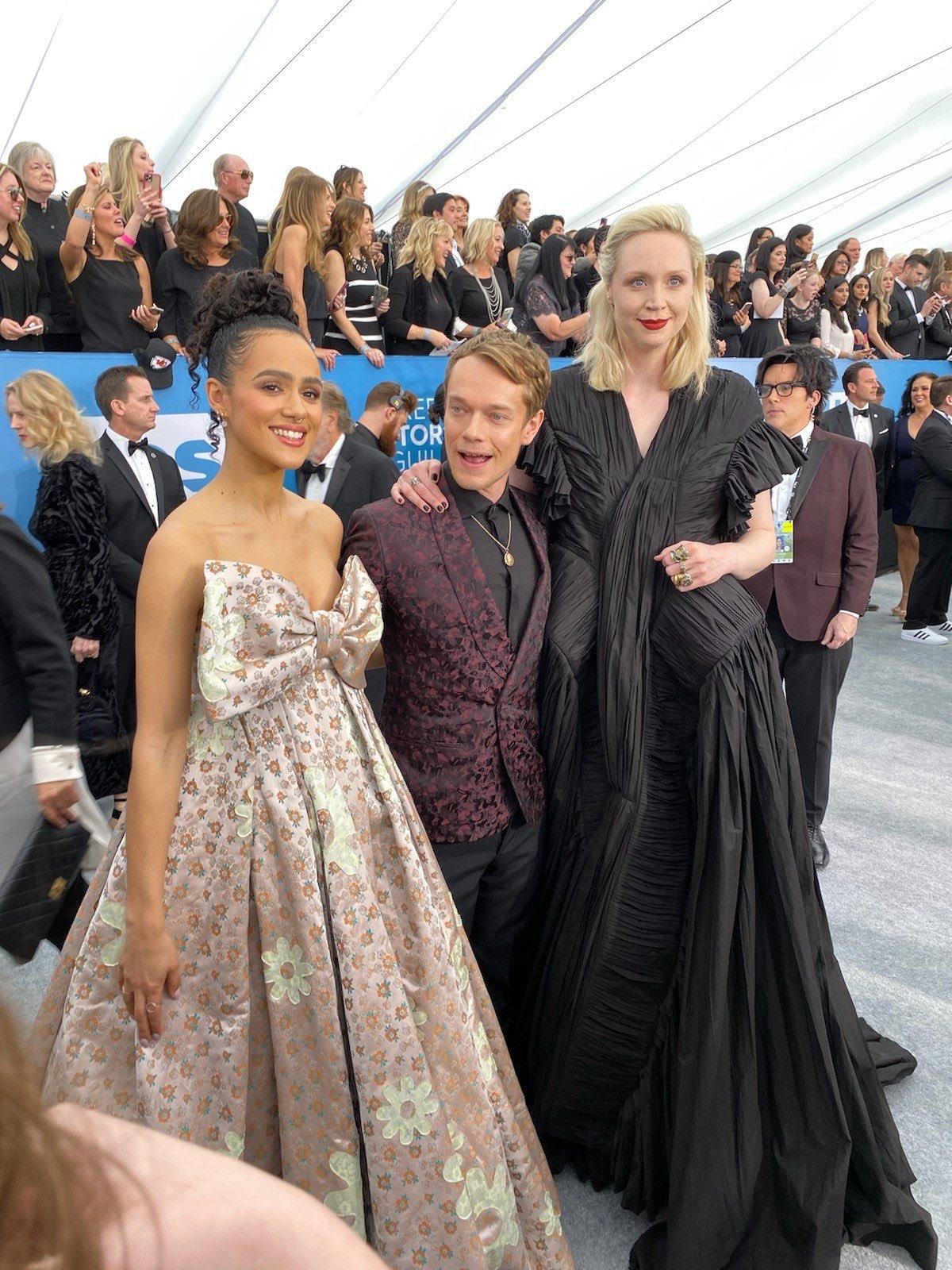 Nathalie Emmanuel, Alfie Allen, and Gwendoline Christie