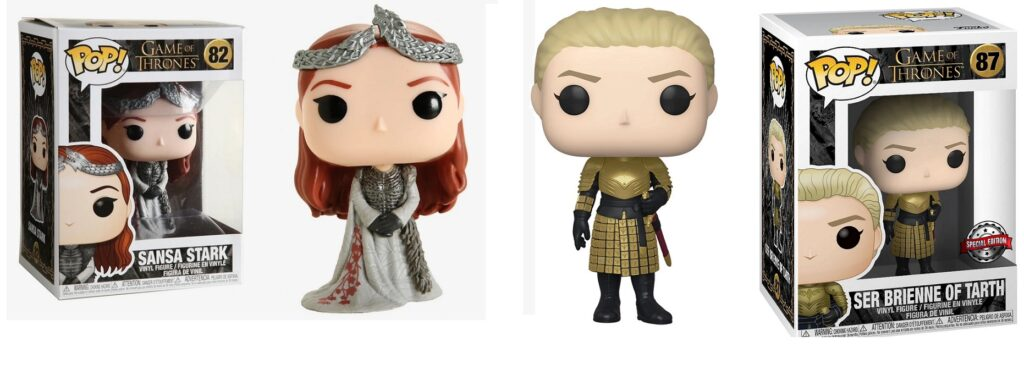Sansa Queen in the North Brienne Kingsguard Funko