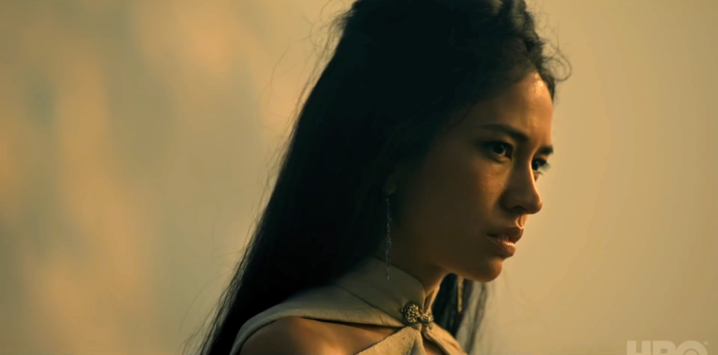 Sonoya Mizuno's Mysaria, a Lysene dancer and ally of Daemon